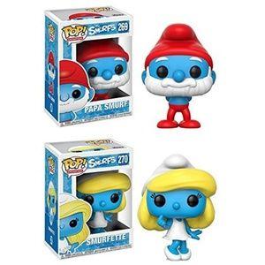 Papa Smurf + Smurfette - Stylized Vinyl Figure Set